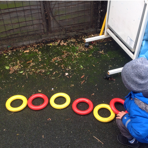 Making repeating patterns with quoits