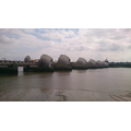 cycle ride view of the Thames Barrier