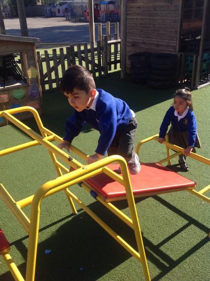 Using climbing equipment