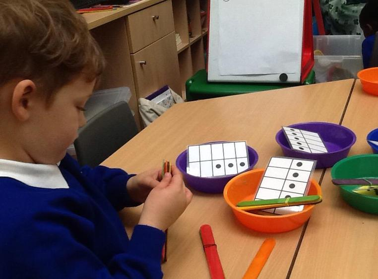 Matching amounts of objects and number patterns