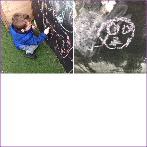 Using the chalkboard to draw