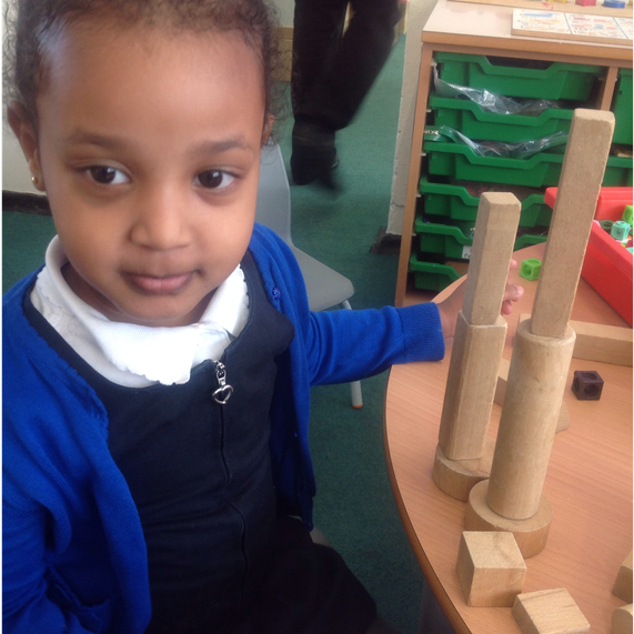 Building towers and using the vocabulary of height