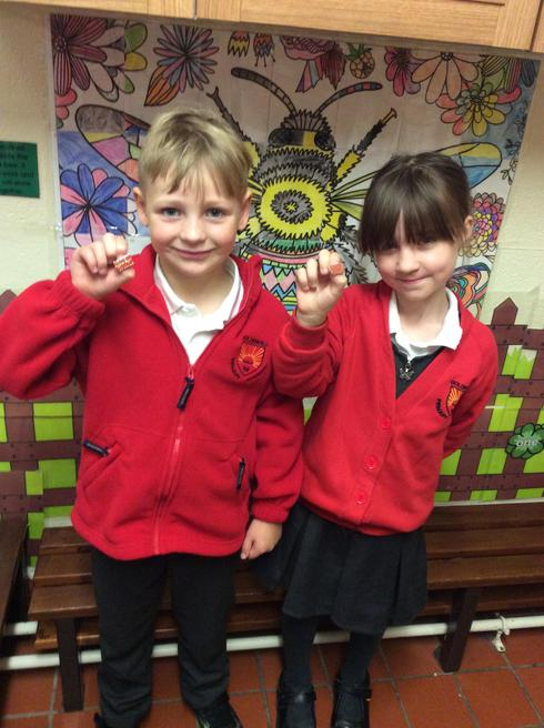 Ryder and Maisie representing Year 2.