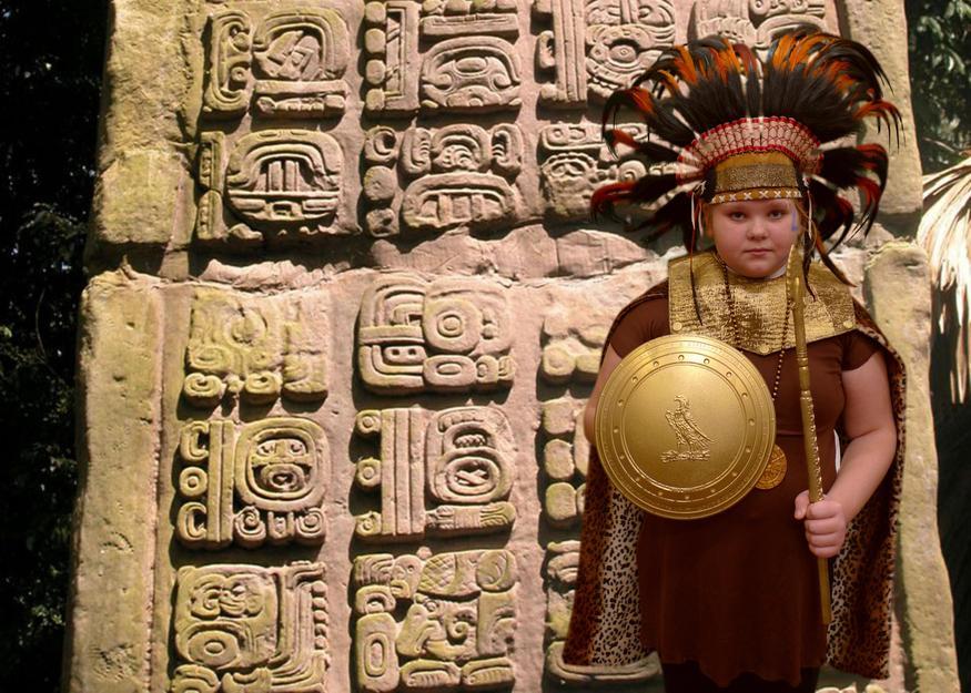 Dressing up as Mayas