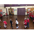 Throwing shapes during dance in PE!