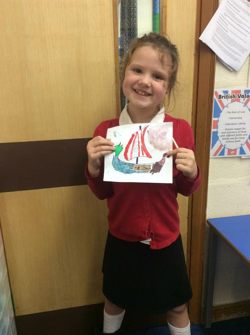 We created our own Viking longboats!