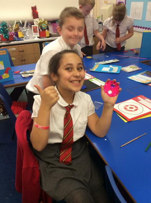 We made our own Viking broaches!