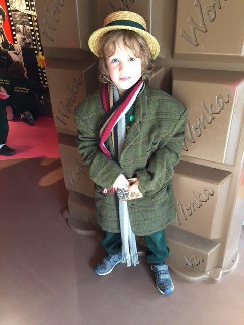 Jamie enjoying the Roald Dahl Museum