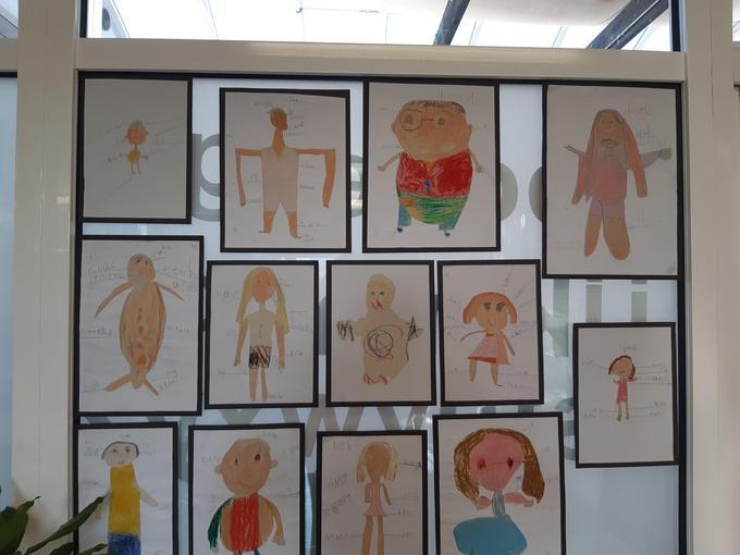 We drew self-portraits