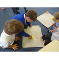Experimenting with Beebots using our island maps