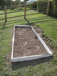Time to plant up the fruit and vegetable beds made by Mr Whitehead