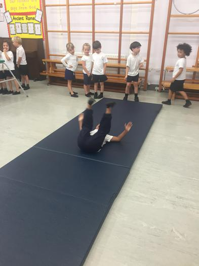 We even did some cartwheels and forward rolls!