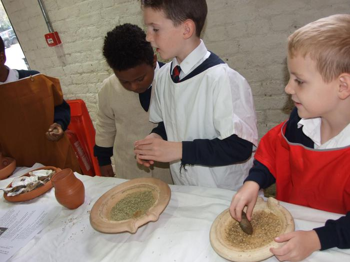 Roman slaves cooking and plotting their escape...