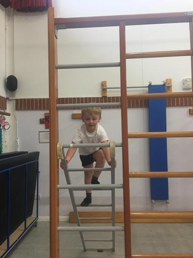 We even climbed up ladders!