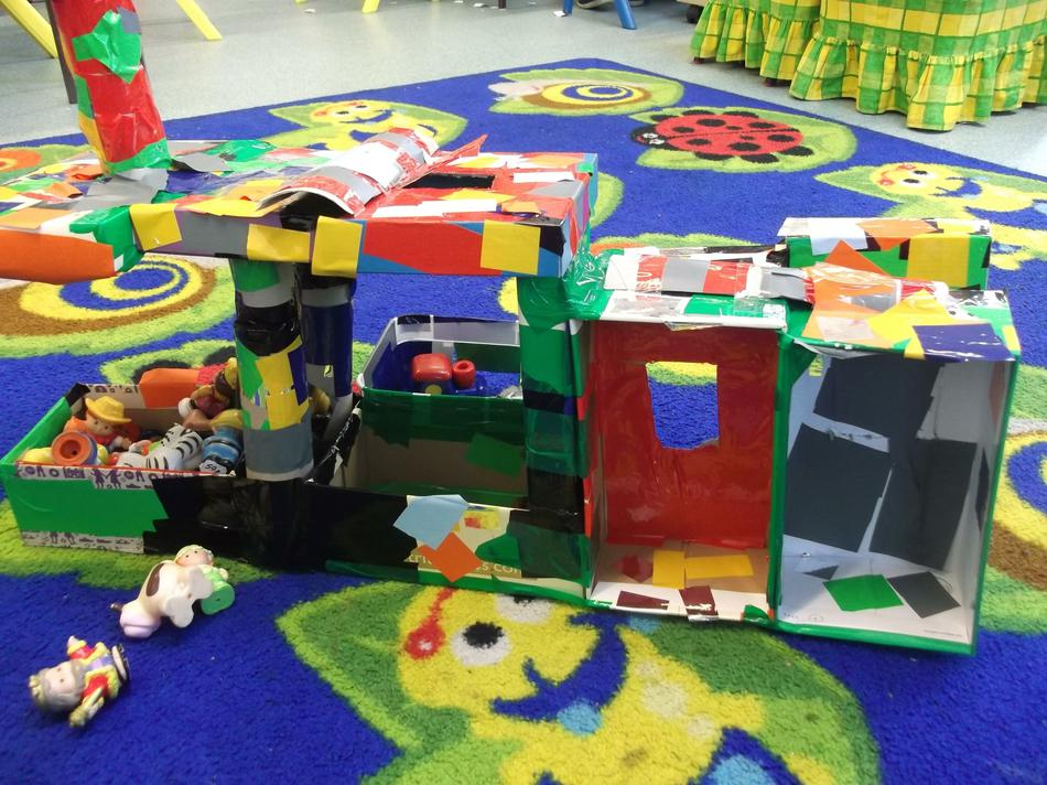 We used reclaimed materials to make our castle.