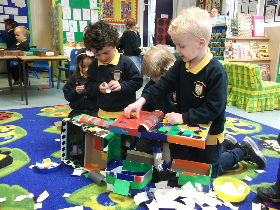 Our construction is made up of 3D shapes.