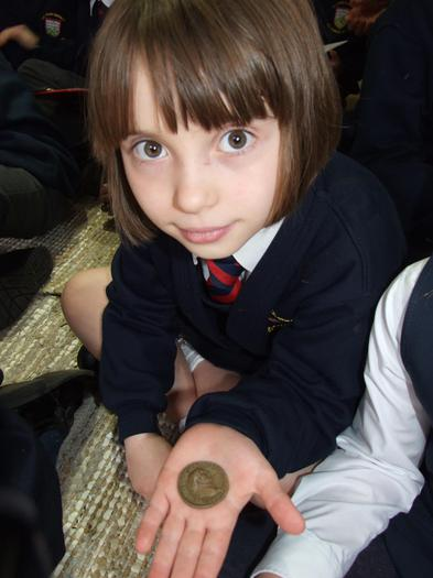 A Roman coin!