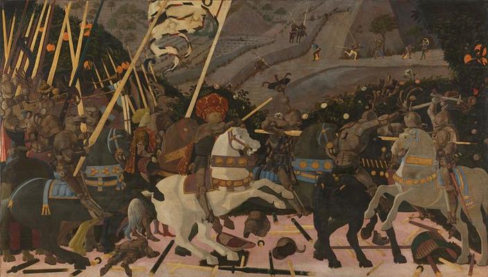 Niccolò Mauruzi da Tolentino at the Battle of San Romano, c1438-1440