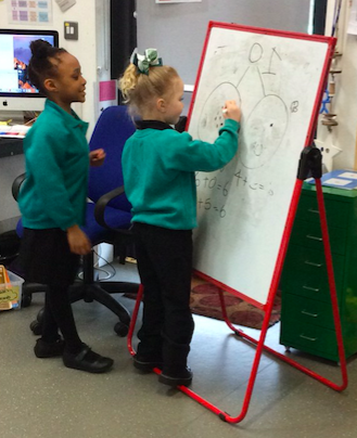 Making ten using part/whole diagrams in Reception