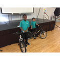 Bike winners 2017 - for great attendance!