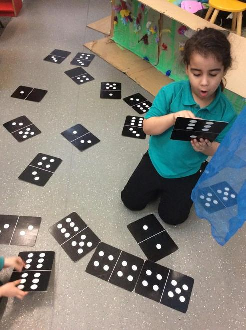 Dominoes in Reception