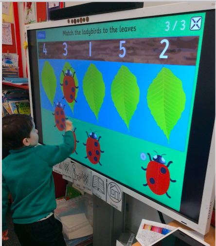 Matching amounts to numerals in Reception