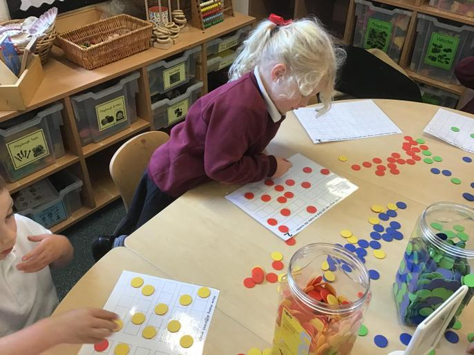 investigating different ways of representing the number 2 on 5 frames