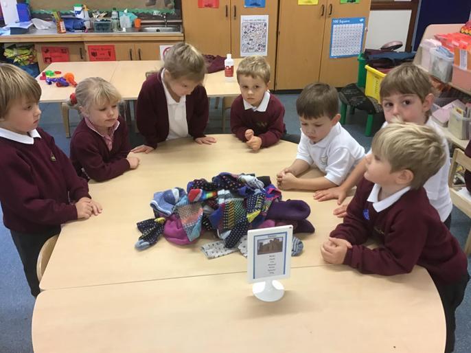 sock sorting: before . . .