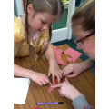 Making worm puppets