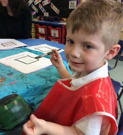 Enterprise Pots - the children have been decorating pots as part of their Enterprise project 11