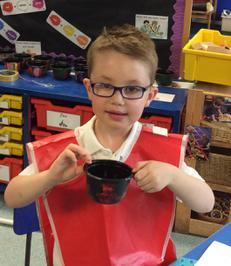 Enterprise Pots - the children have been decorating pots as part of their Enterprise project 22