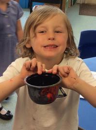 Enterprise Pots - the children have been decorating pots as part of their Enterprise project 4