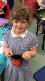 Enterprise Pots - the children have been decorating pots as part of their Enterprise project 7
