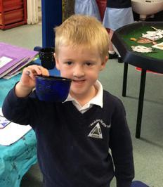 Enterprise Pots - the children have been decorating pots as part of their Enterprise project 6