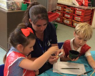 Enterprise Pots - the children have been decorating pots as part of their Enterprise project 1