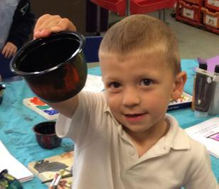 Enterprise Pots - the children have been decorating pots as part of their Enterprise project 5