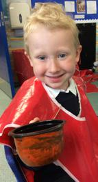 Enterprise Pots - the children have been decorating pots as part of their Enterprise project 12