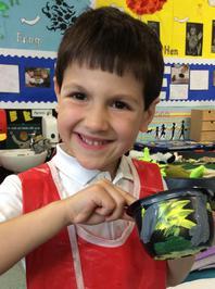 Enterprise Pots - the children have been decorating pots as part of their Enterprise project 17