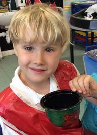 Enterprise Pots - the children have been decorating pots as part of their Enterprise project 2