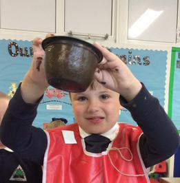 Enterprise Pots - the children have been decorating pots as part of their Enterprise project 13