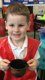 Enterprise Pots - the children have been decorating pots as part of their Enterprise project 14