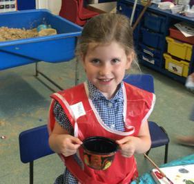 Enterprise Pots - the children have been decorating pots as part of their Enterprise project 24