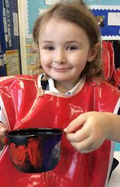 Enterprise Pots - the children have been decorating pots as part of their Enterprise project 9