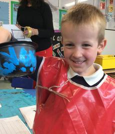 Enterprise Pots - the children have been decorating pots as part of their Enterprise project 16
