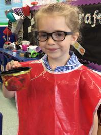 Enterprise Pots - the children have been decorating pots as part of their Enterprise project 10