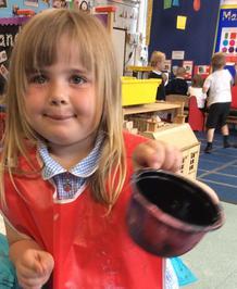 Enterprise Pots - the children have been decorating pots as part of their Enterprise project 15