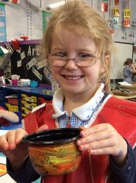 Enterprise Pots - the children have been decorating pots as part of their Enterprise project 8