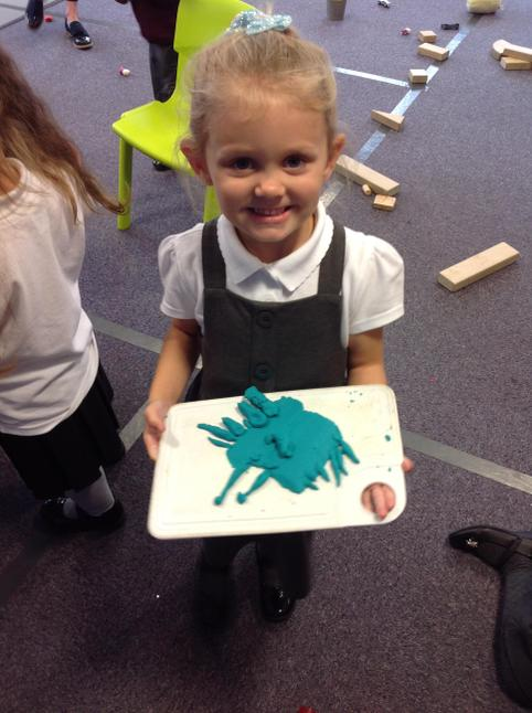Ella-Jai made a fantastic butterfly out of play dough!