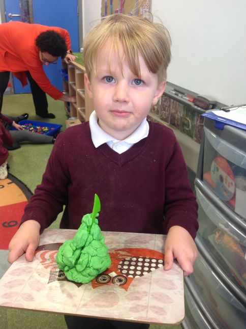 Making with the playdough.