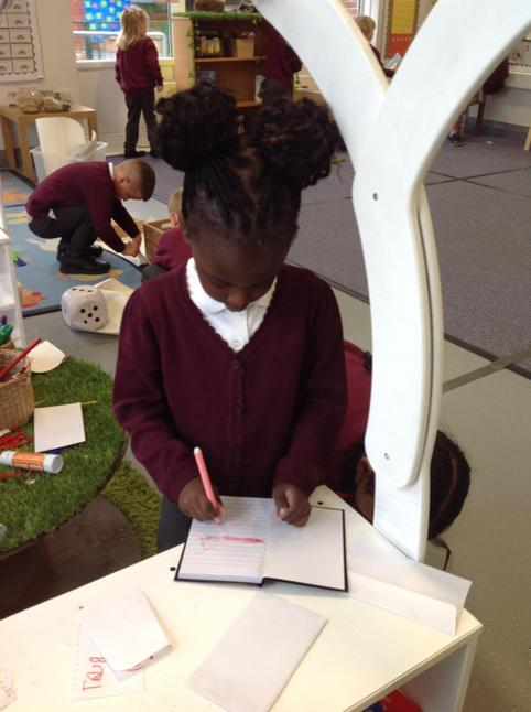 The children really enjoyed exploring our new writing area.
